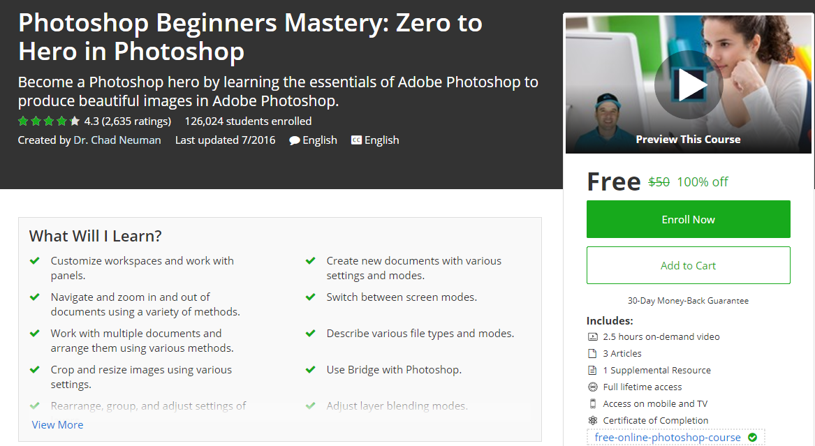 Photoshop Beginners Mastery