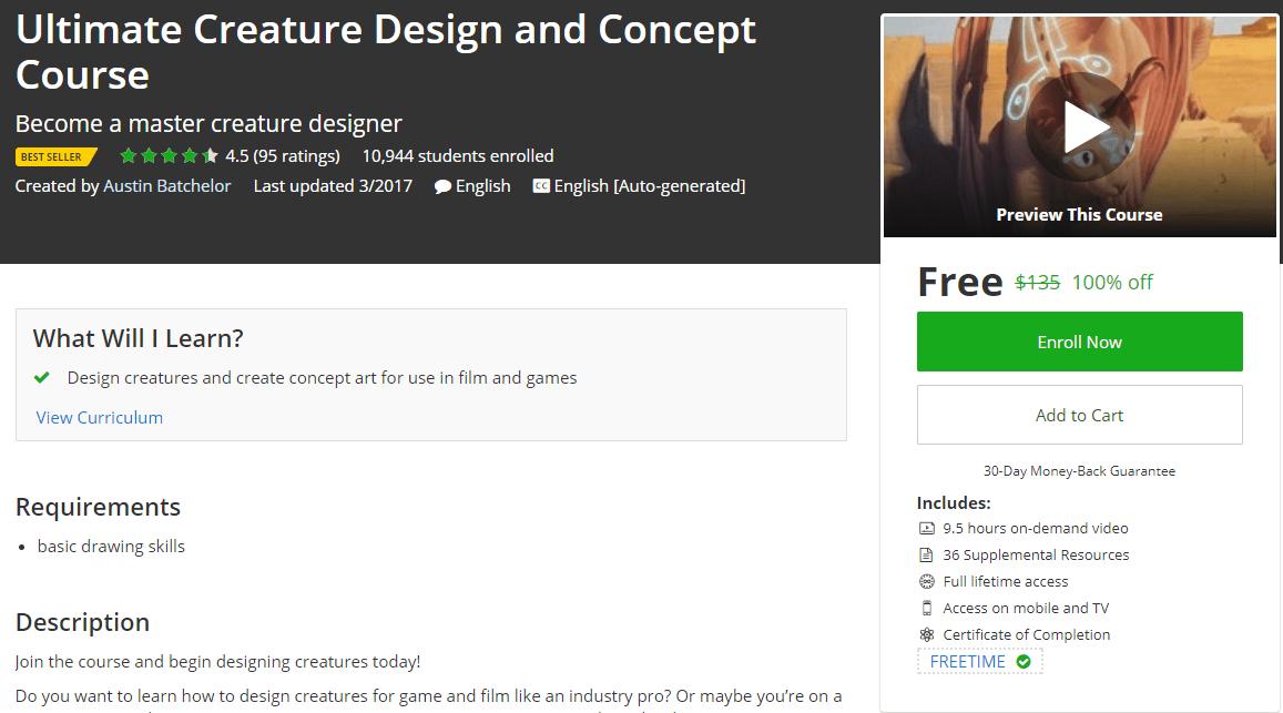Ultimate Creature Design and Concept Course