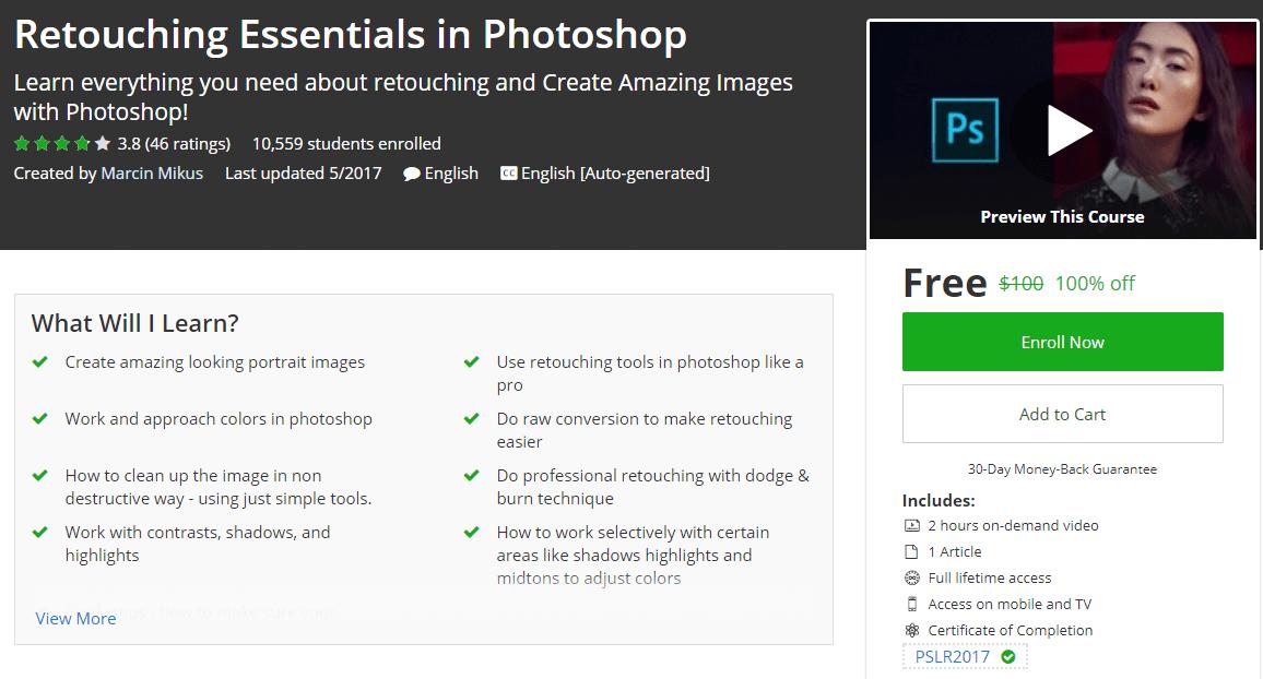 Retouching Essentials in Photoshop