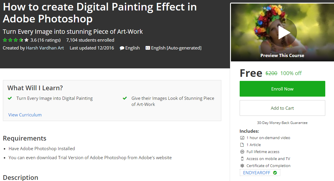 How to create Digital Painting Effect in Adobe Photoshop