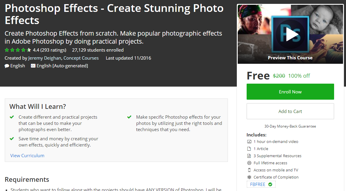 Photoshop Effects - Create Stunning Photo Effects