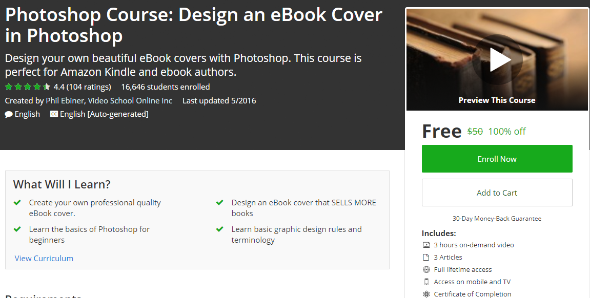 Photoshop Course: Design an eBook Cover in Photoshop