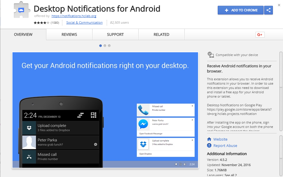 Desktop Notifications for Android